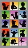 Profession avatar silhouettes Stock Images