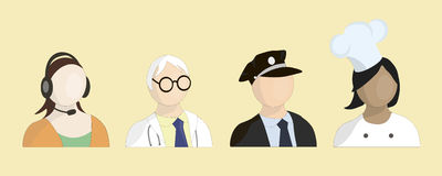 Profession avatar vector illustration Royalty Free Stock Images