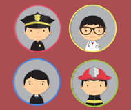 Profession badges Stock Photos