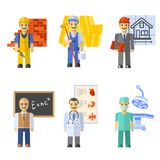 Profession Characters Set Stock Photo