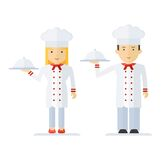 Profession chef cooking man woman Stock Photo