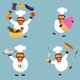 Profession chef in four variants. Stock Photo