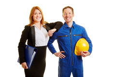 Profession in construction or business. As a team Stock Images