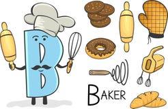 Profession d'Alphabeth - lettre B - Baker Illustration Stock