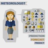Profession des personnes Infographic plat illustration de vecteur