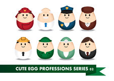Profession Egg 2. Collection of profession image in egg-shaped Royalty Free Stock Photography
