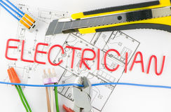 Profession electrician Royalty Free Stock Image