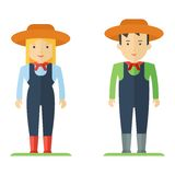 Profession farmer man and woman Stock Photos