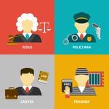 Profession flat avatar icons Royalty Free Stock Photography
