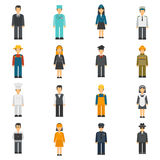 Profession Flat Avatars Set Royalty Free Stock Images