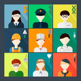 Profession flat icon set Stock Photo