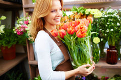 Profession of florist Royalty Free Stock Photography