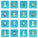 Profession icon blue app Royalty Free Stock Photo