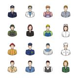 Profession icons set cartoon. Profession icons set in cartoon style isolated on white background vector illustration Stock Images