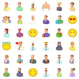 Profession icons set, cartoon style. Profession icons set. Cartoon style of 36 profession vector icons for web isolated on white background Royalty Free Stock Photography