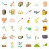 Profession icons set, cartoon style Royalty Free Stock Photos