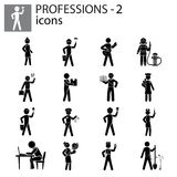 Profession icons set. Illustration Stock Images
