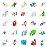 Profession icons set, isometric style Royalty Free Stock Images
