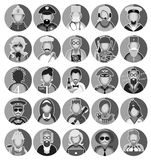 Profession Icons Set. Set of icons with people profession. Vector illustration Stock Photos