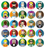 Profession Icons Set. Set of icons with people profession. Vector illustration Royalty Free Stock Photography