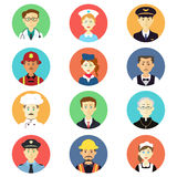 Profession icons royalty free illustration