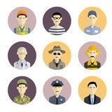 Profession icons Royalty Free Stock Photos