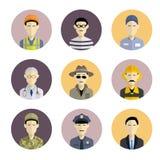 Profession icons Royalty Free Stock Photos