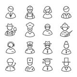 Profession icons vector set Royalty Free Stock Photos