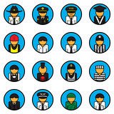Profession icons vector set. Avatar. Character symbol. Flat style. For web and mobile Stock Photos