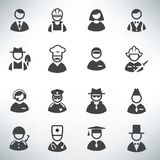 Profession icons vector set Royalty Free Stock Images