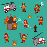Profession job fireman. Profession jobs firemen variants kids boy illustration isolated Royalty Free Stock Images