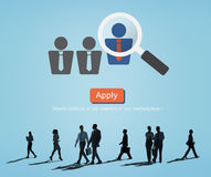 Profession Job Seeker Concept de profession d'application photos libres de droits
