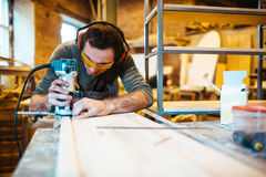 Profession of joiner Royalty Free Stock Photos