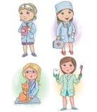 Profession kids 4. Profession kids profession doctor. Eps10 Royalty Free Stock Photo