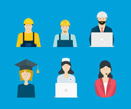 Profession, occupation icons Royalty Free Stock Images