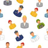 Profession pattern, cartoon style Royalty Free Stock Image
