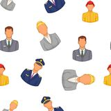 Profession pattern, cartoon style. Profession pattern. Cartoon illustration of profession vector pattern for web Royalty Free Stock Photos