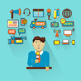 Profession of people. Flat infographic. Royalty Free Stock Photo
