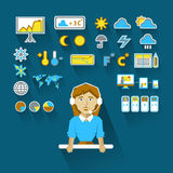 Profession of people. Flat infographic. Royalty Free Stock Images