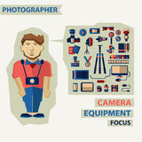 Profession of people. Flat infographic. Royalty Free Stock Image