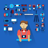 Profession of people. Flat infographic. Stock Photos