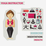 Profession of people. Flat infographic. Yoga Stock Image