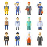 Profession People Set. With engineer worker pilot teacher isolated vector illustration Stock Photography