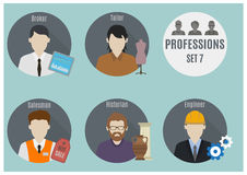 Profession people. Set 7 Royalty Free Stock Photos