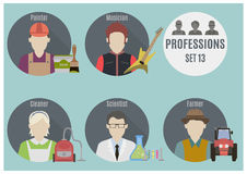 Profession people. Set 13 Royalty Free Stock Photos