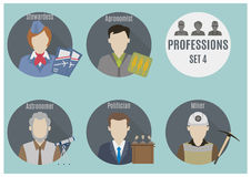 Profession people. Set 4 Stock Image
