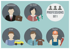 Profession people. Set 1 Royalty Free Stock Photos