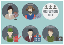 Profession people. Set 9 Stock Image