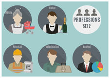 Profession people. Set 2 Royalty Free Stock Photos