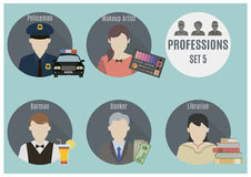 Profession people. Set 5 Stock Photography